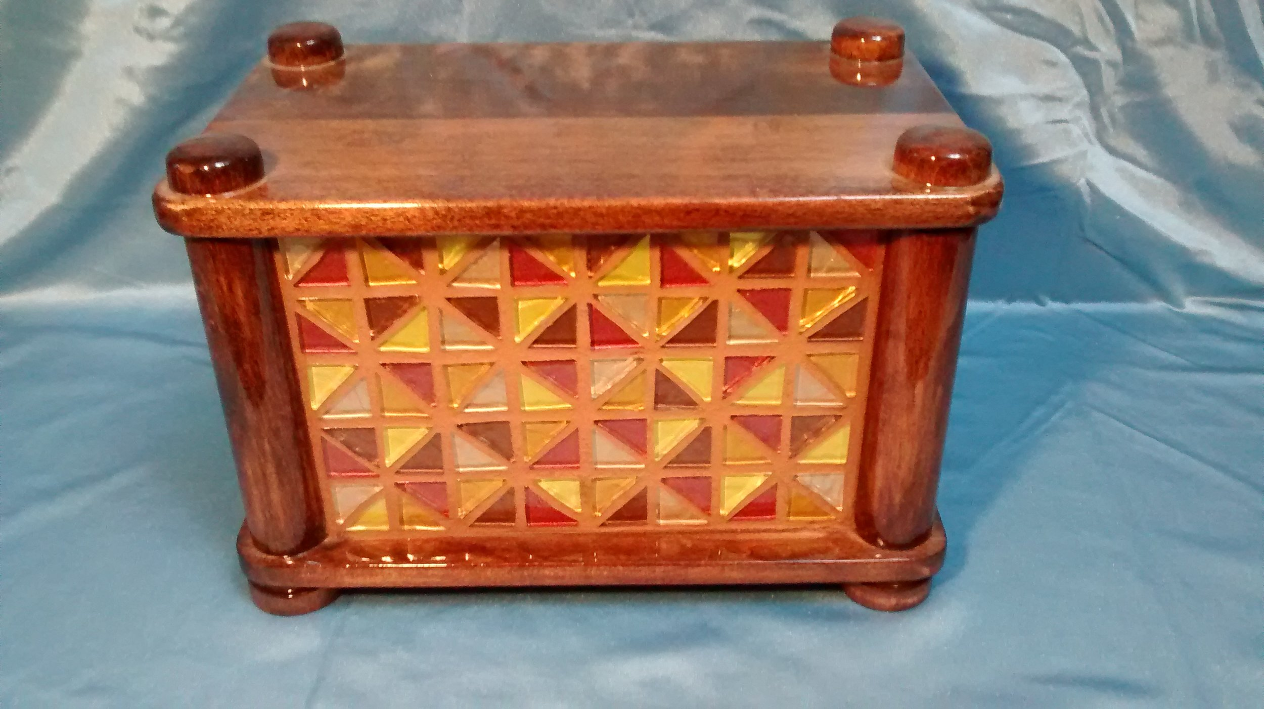 Wood and Glass Tile Jewelry Box