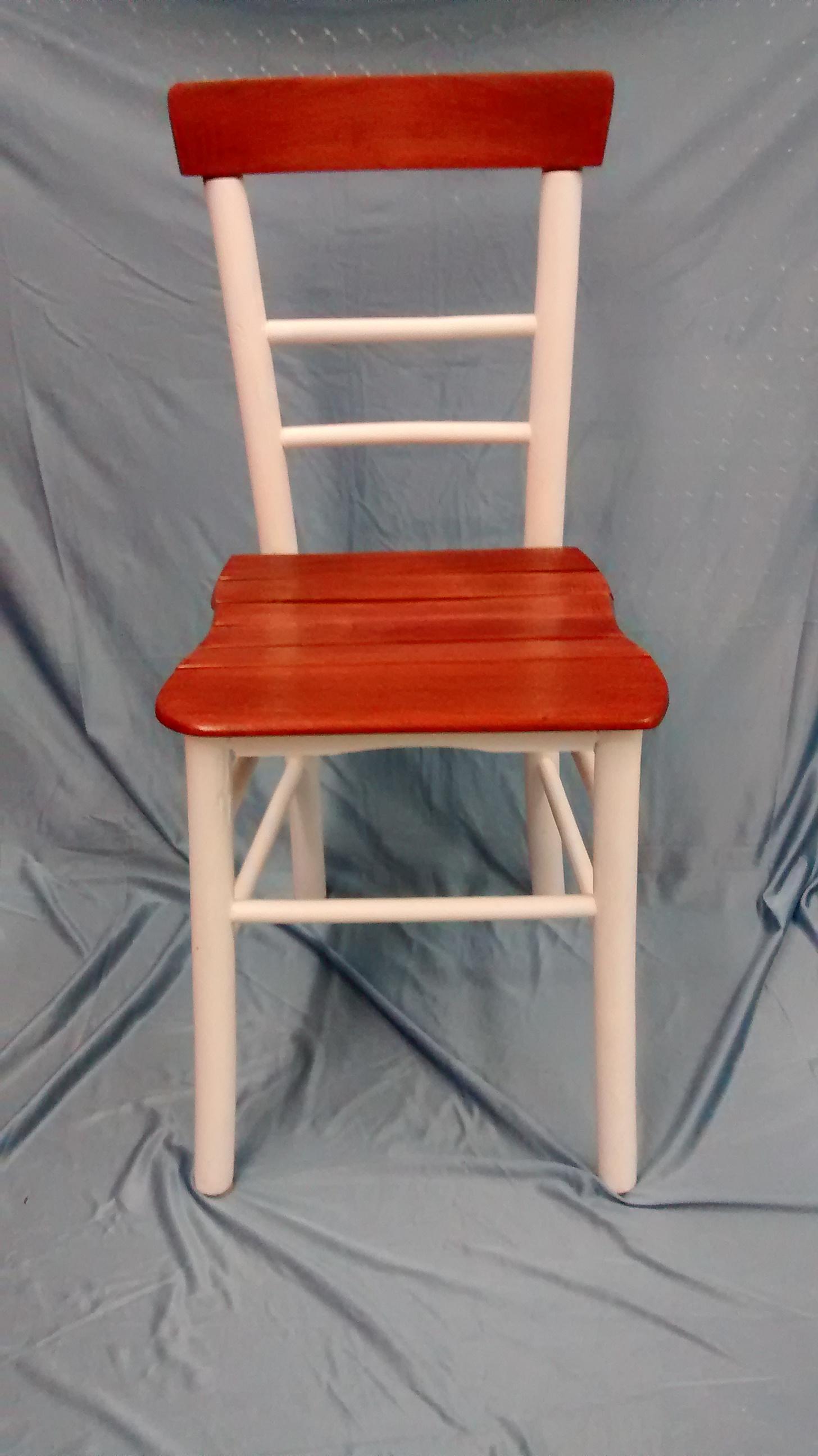 Restored Antique Handmade Wooden Chair