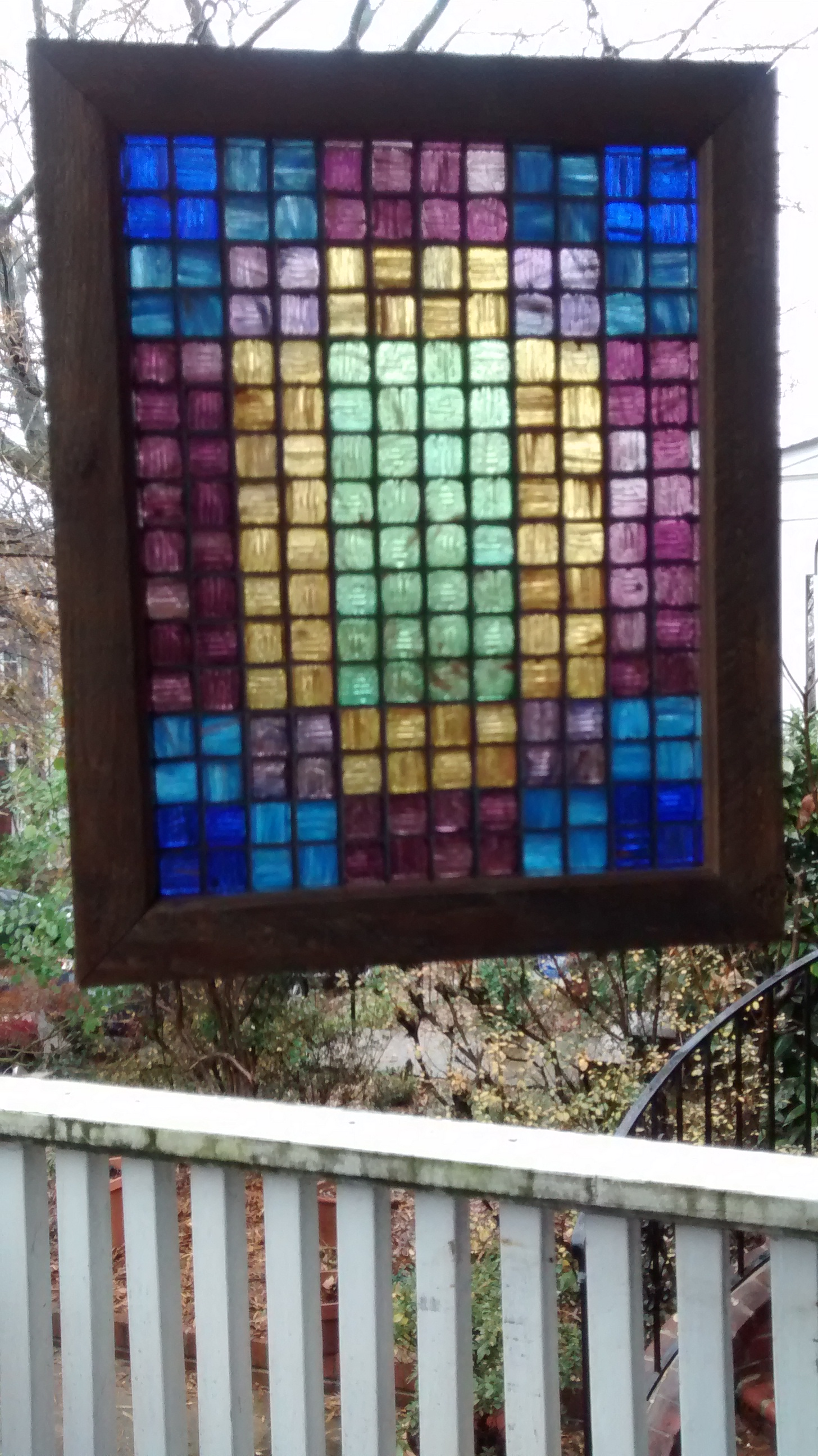 "Colored Glass Tile Mosaic ""Quilts"" #1-4"