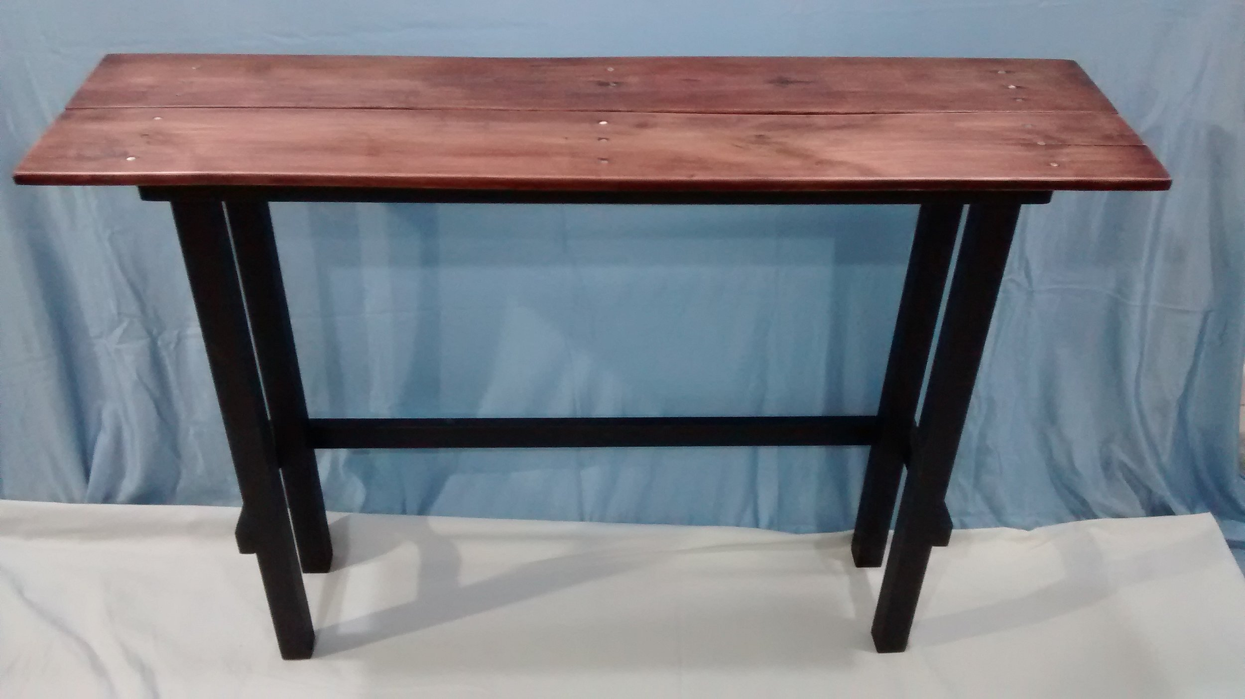 Two Side Tables with Reclaimed Wood Tops