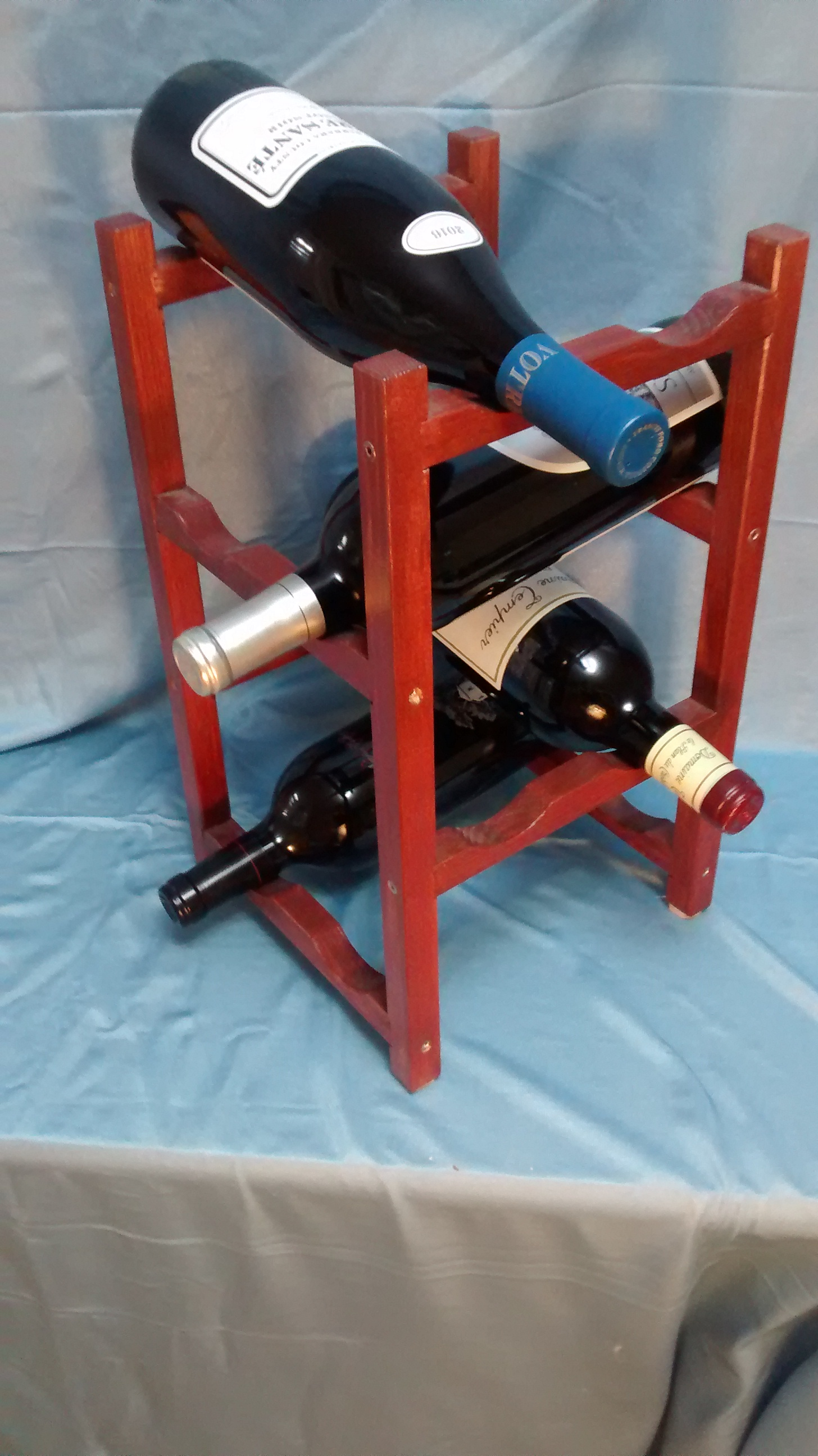 Refinished Wooden Wine Rack #1