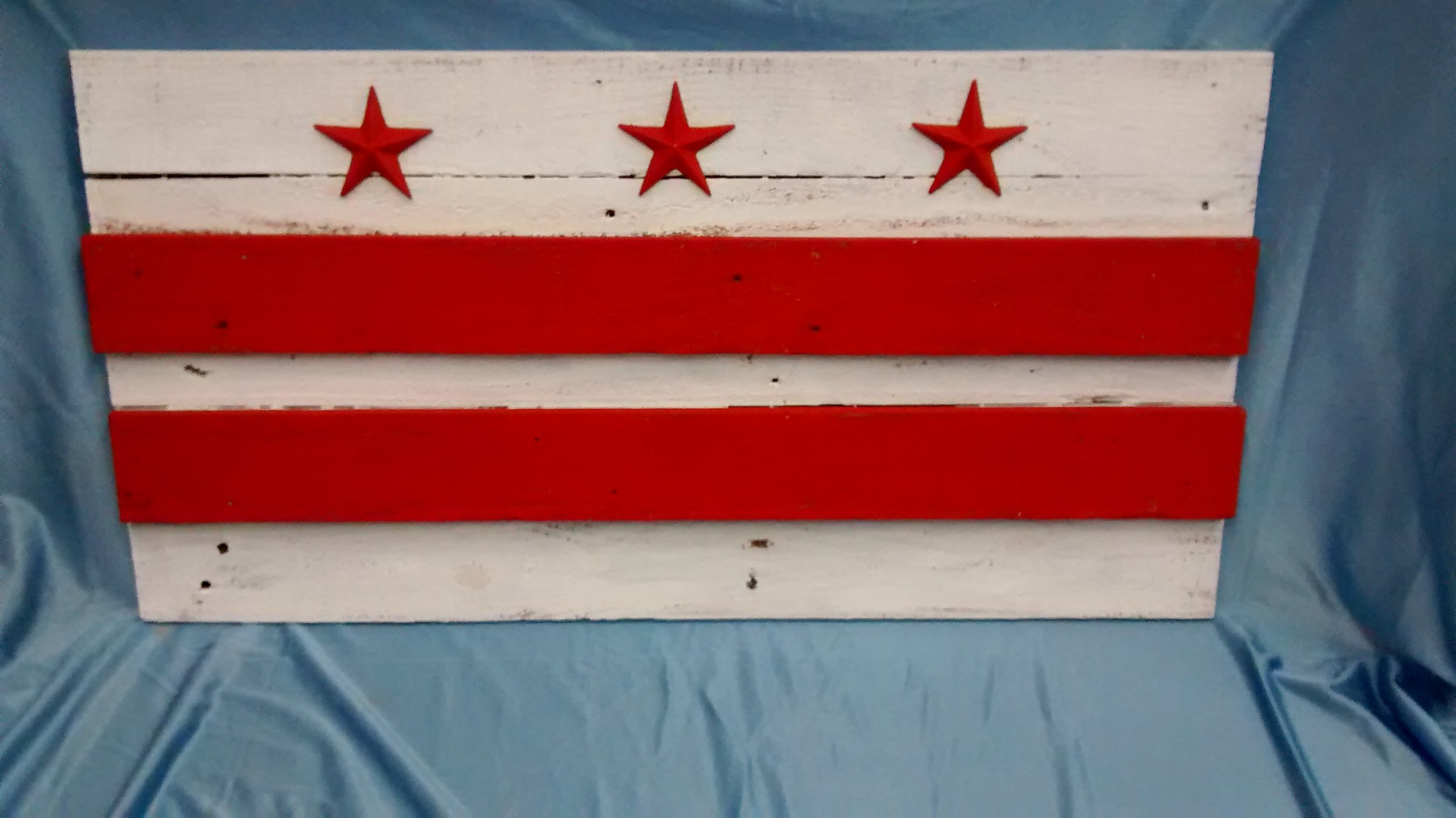Small Painted D.C. Flag #2