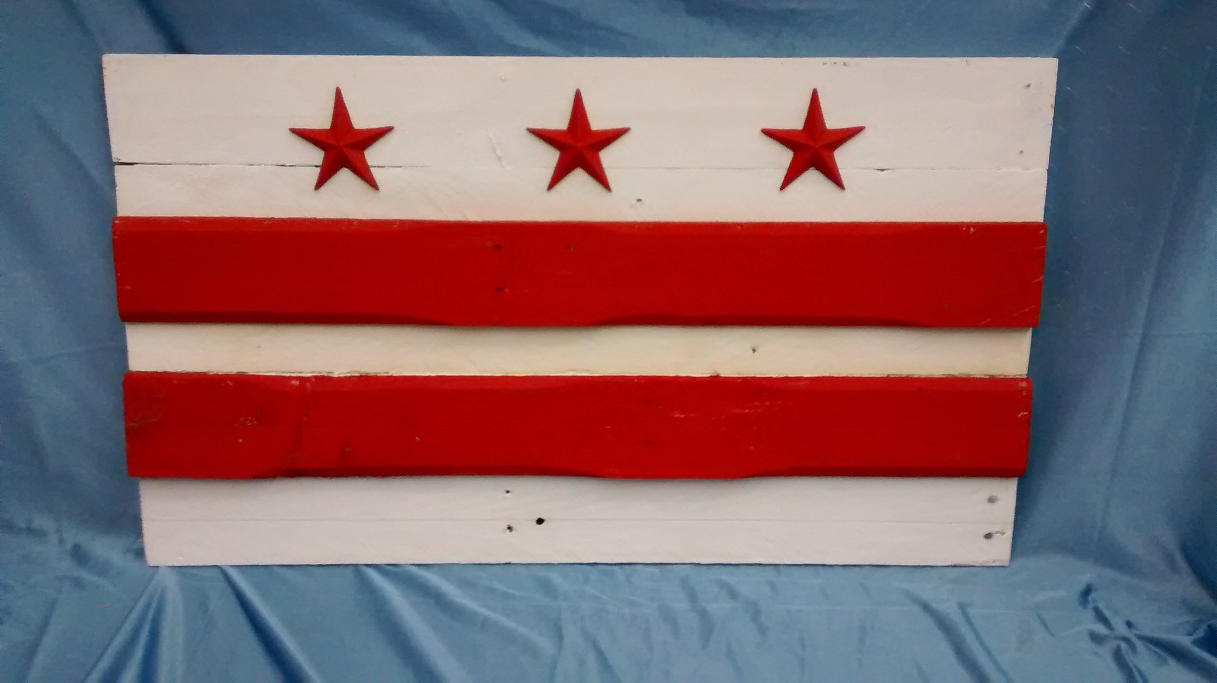 Small Painted D.C. Flag #3