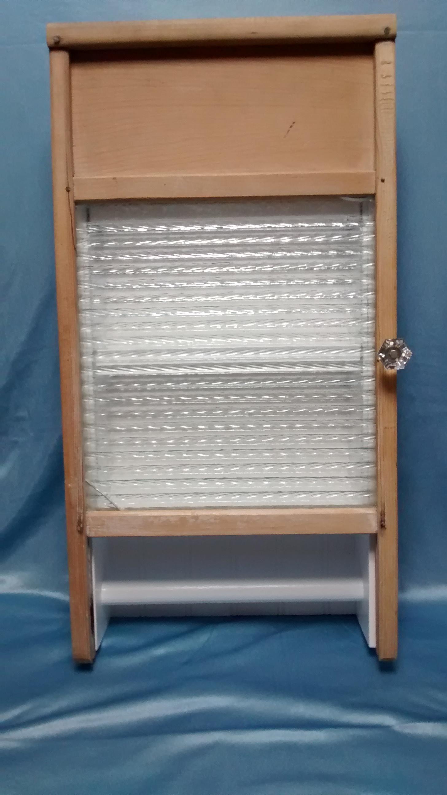 Glass Washboard Cabinet #1