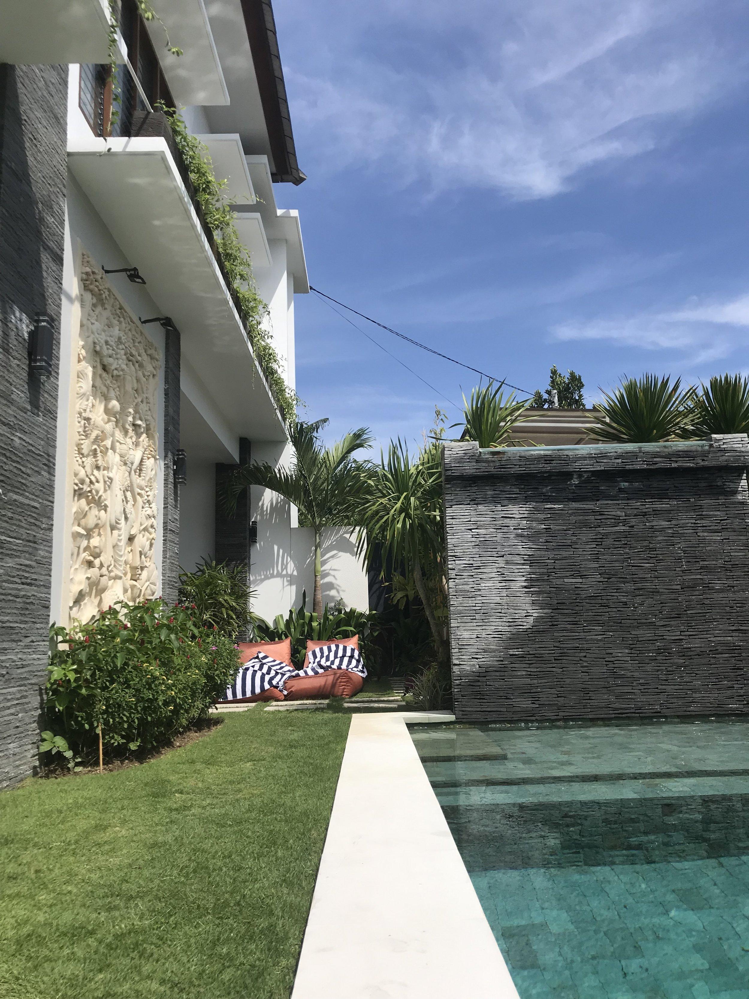 Pool views at our villa