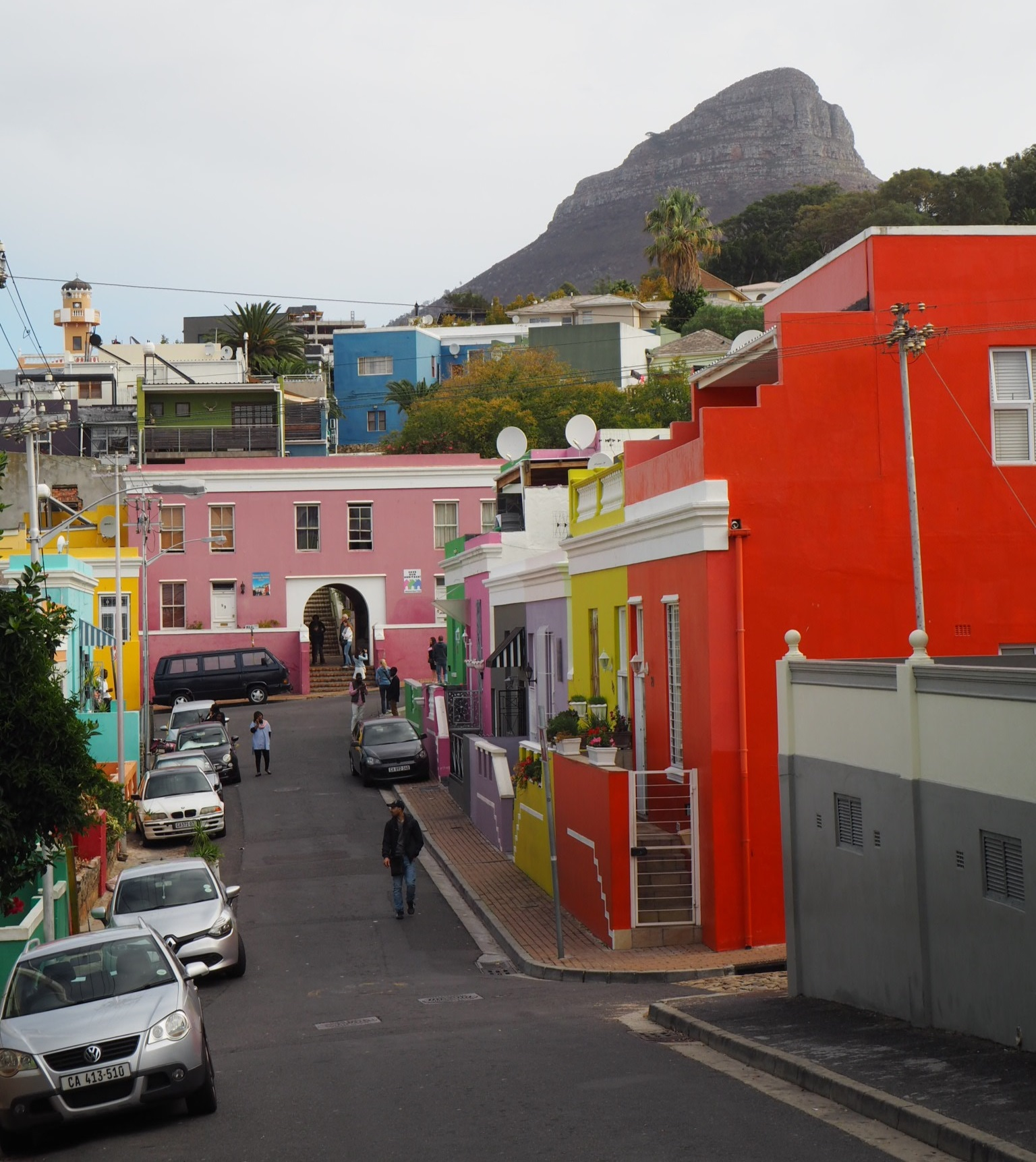 Bo-Kaap and the money shot. Former cover pic of Lonely Planet's Cape Town guide.