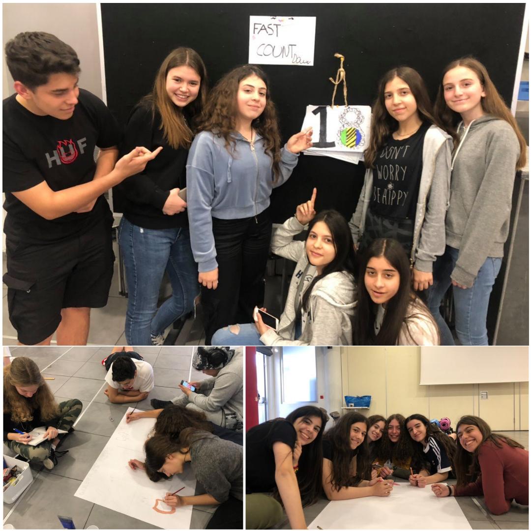 """Λευκωσία, Κύπρος - 10 Μαΐου, 2019   12+ ώρες: Οι μαθητές του Τμήματος Γεωγραφίας του The GC School of Careers συνεχίζουν την 30ωρη απεργία πείνας και ετοιμάζουν έργα τέχνης για το σχολείο της κοινότητας Λομιγιόν η οποία θα λάβει το υποδομικό εγχείρημα παροχής καθαρού νερού τους προσεχείς μήνες. Θα φροντίσουμε να παραδοθούν στο σχολείο και οι """"συμμαθητές"""" τους από την Αφρική να μάθουν τι έκαναν οι συνάνθρωποι τους για αυτούς."""