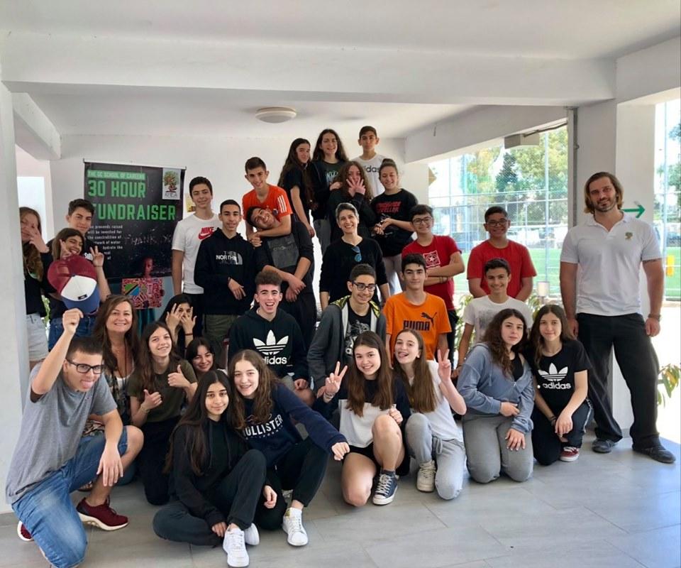 Λευκωσία, Κύπρος - 11 Μαΐου, 2019   Οι περισσότεροι μαθητές δεν χρησιμοποιούν την πρωτοβουλία τους επειδή κανείς δεν τους είπε να το κάνουν. Είμαστε πολύ υπερήφανοι με την πρωτοβουλία του Τμήματος Γεωγραφίας του The GC School of Careers το οποίο με 30ωρη Απεργία Πείνας κατάφερε να συγκεντρώσει σημαντικά κεφάλαια για τη δημιουργία βιώσιμης υποδομής καθαρού νερού για τη φυλή Maasai της κοινότητας Λομιγιόν που καθημερινά χάνει τα παιδιά της λόγω ασθενειών που σχετίζονται με το μολυσμένο νερό. Ο συντονισμός της προσπάθειας αυτής δεν θα ήταν εφικτός χωρίς τη βοήθεια της Κας. Λίντας Μουσουλίδου και της Κας. Μαριάννας Θεοδότου. Θερμές ευχαριστίες σε όλα τα παιδιά που συμμετείχαν.