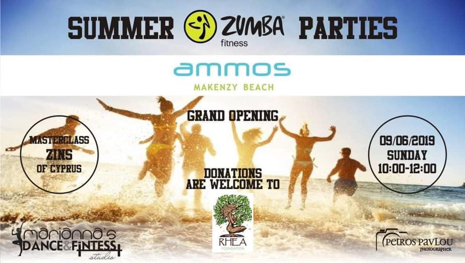 Λάρνακα, Κύπρος - 28 Μαΐου, 2019   Ελάτε μαζί μας να διασκεδάσουμε και να χορέψουμε την Κυριακή 9 Ιουνίου απο τις 10:00-11:30 π.μ στα καλοκαιρινά Zumba Parties στο γνωστό Ammos beach bar -Mackenzie διοργανωμένα απο την ξεχωριστή Marianna Akona. Είσοδος 5€. Όλα τα έσοδα της εκδήλωσης θα δοθούν για το εγχείρημα μας που θα αρχίσει του προσεχείς καλοκαιρινούς μήνες που αποσκοπεί να κατασκευάσει υποδομή παροχής καθαρού νερού για την κοινότητα Λομιγιόν στην Τανζανία της Αφρικής. Σας περιμένουμε όλους να χορέψουμε να γυμναστούμε και να διασκεδάσουμε.