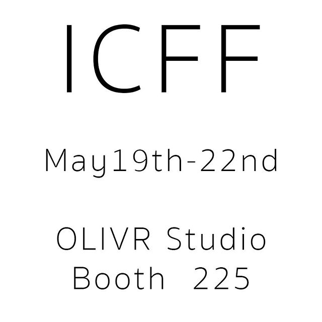 Still can't believe this is happening!  We'll be showing a whole new collection of goodies at the International Contemporary Furniture Fair in NYC in 2 weeks.  May 19th-22nd  We'll be in booth 225 so come say hi!  #icff2019 #icff