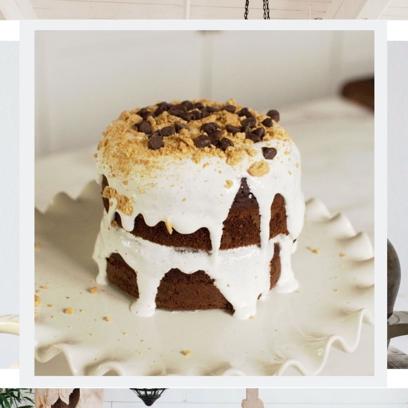 Easiest Cake - EVER - Chocolate, marshmallow and graham crackers… oh my!