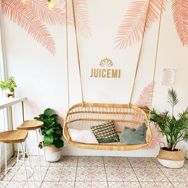 Best mid day pick me up... ⁠ .⁠ .⁠ thanks to @lyndsey_raee for the inspo on capturing how cute this place is 😍⁠ .⁠ .⁠ so basically we live for cute coffee & juice spots... any recommendations?! ⁠ .⁠ .⁠ #coffeeshops & #juicespots