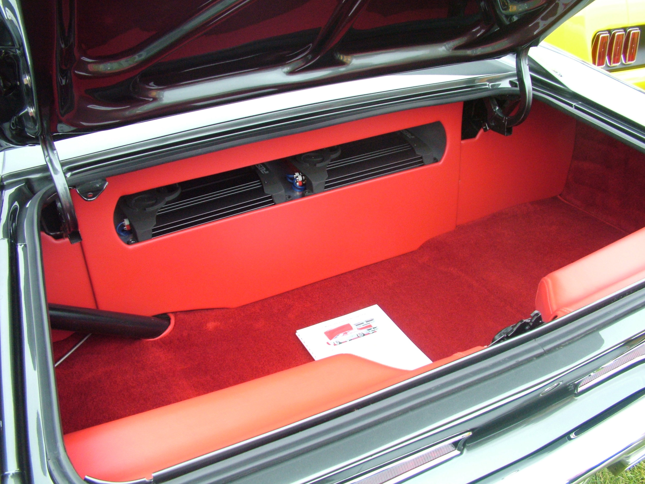 Charger - Custom trunk with new carpet.