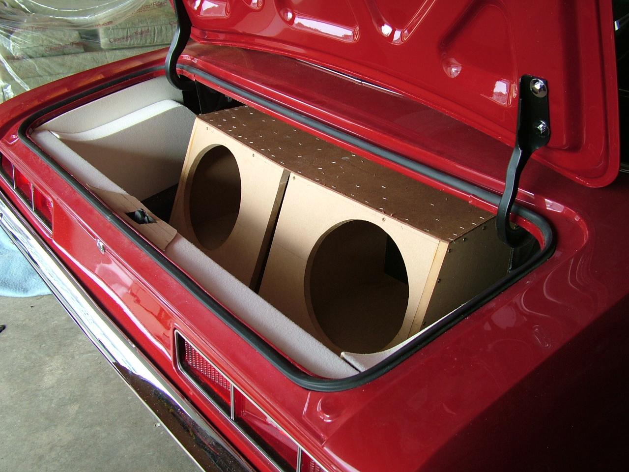 Camaro -  Custom Trunk with speaker boxes.
