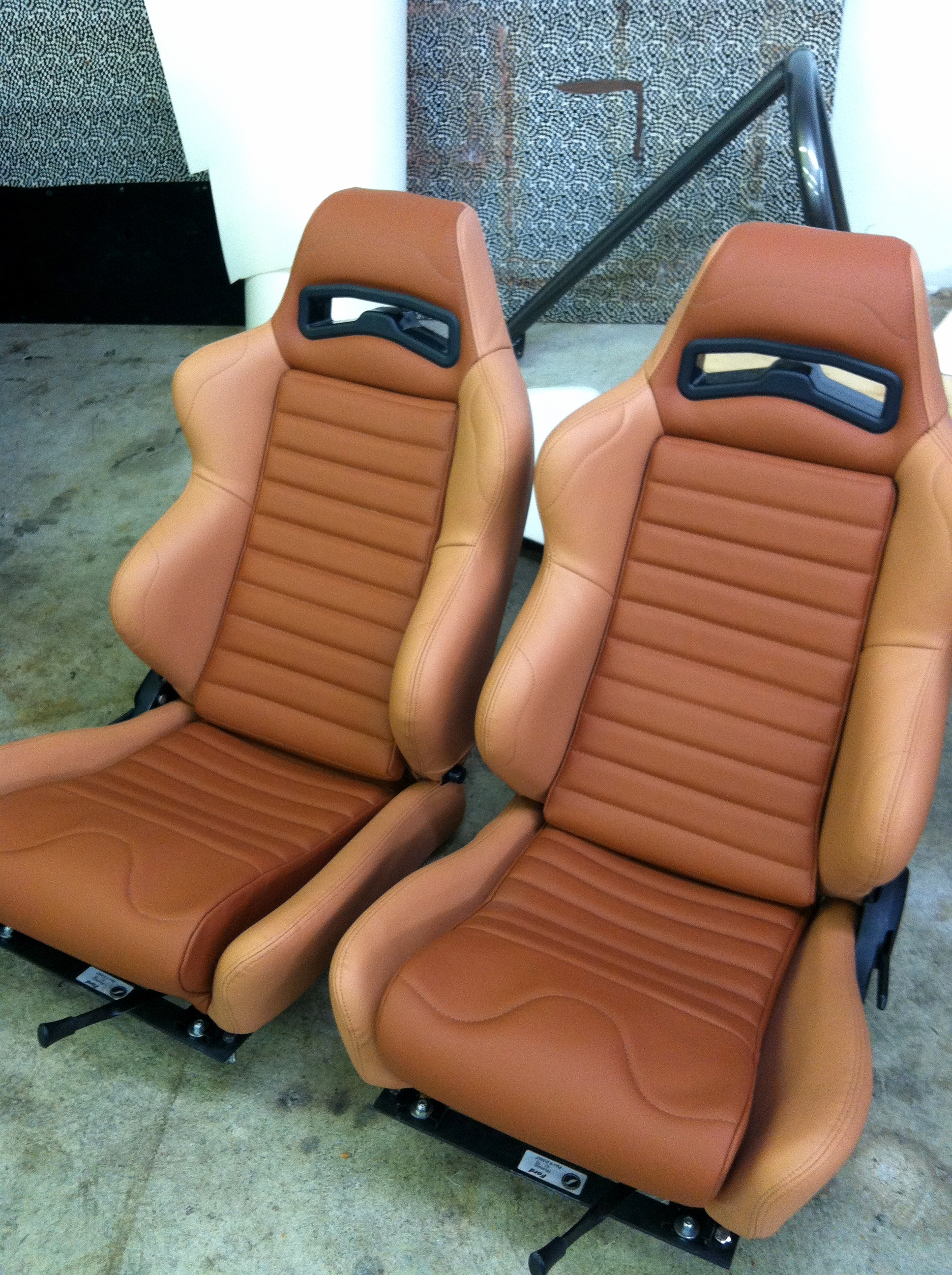 NW Crafted tan on tan leather racing seats.