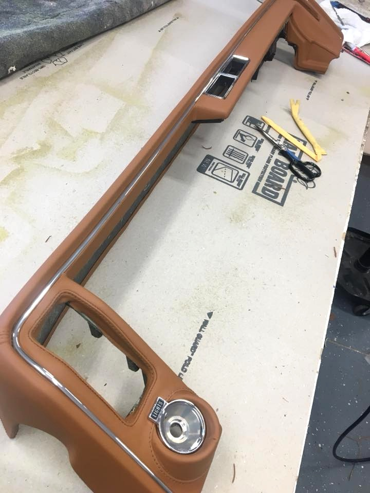 Buick - Custom Wrapped tan leather dash