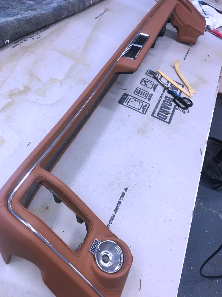 Buick - Custom Tan Leather wrapped dash