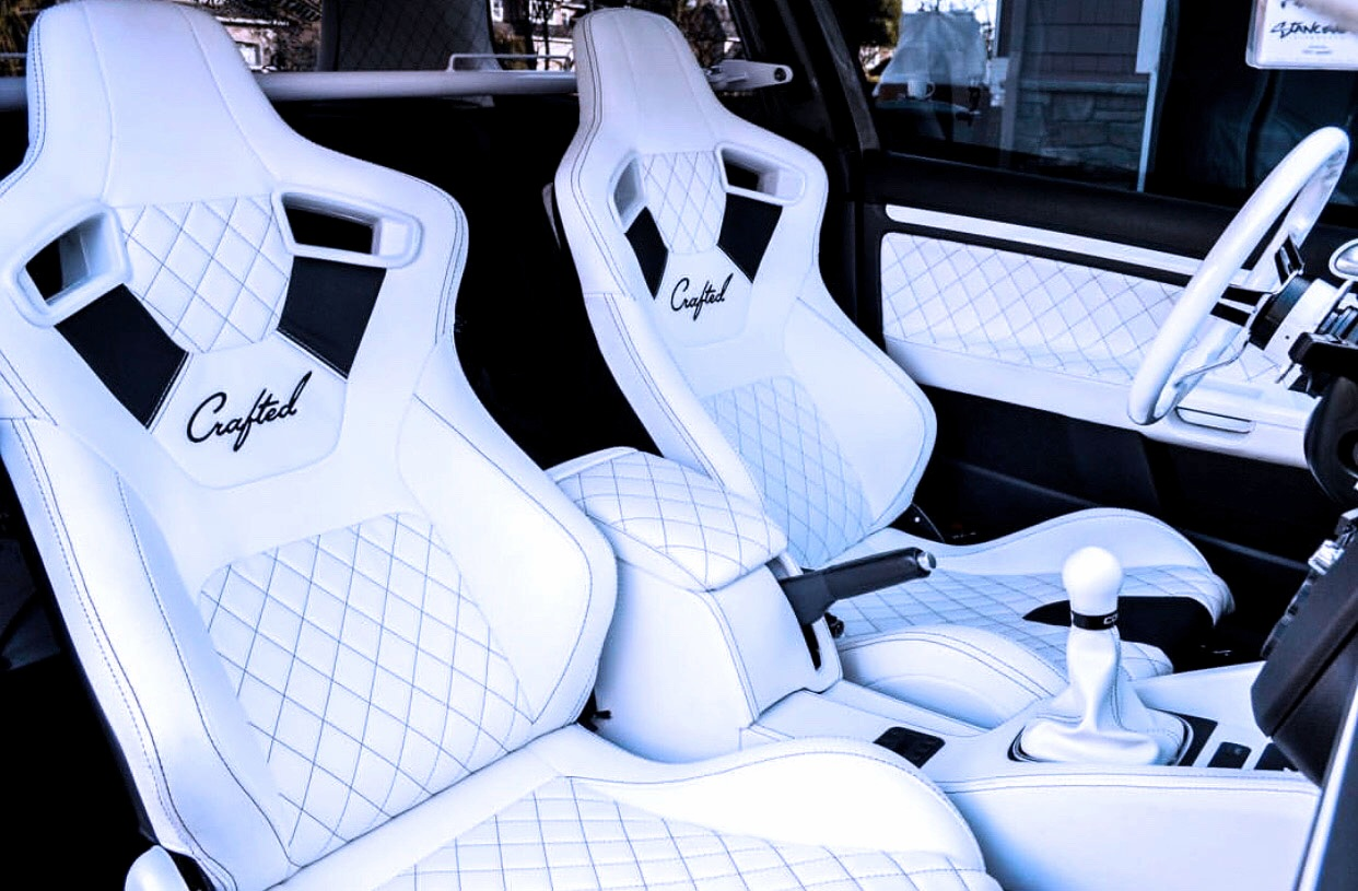 NW Crafted Full custom GTI Interior - White Leather Diamond Stitching