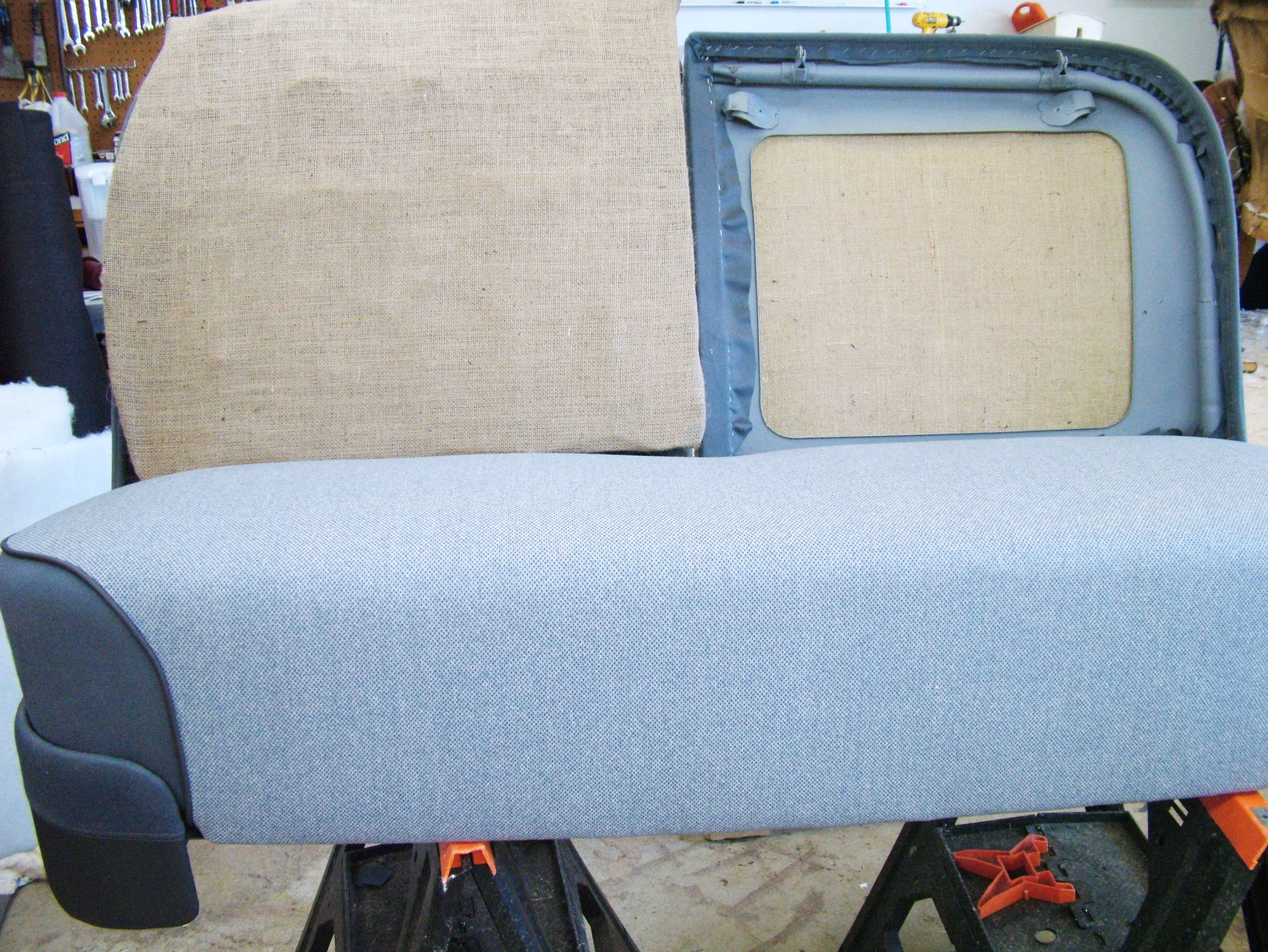 Cadillac - Restoration interior - seat repair - foam seat repair.