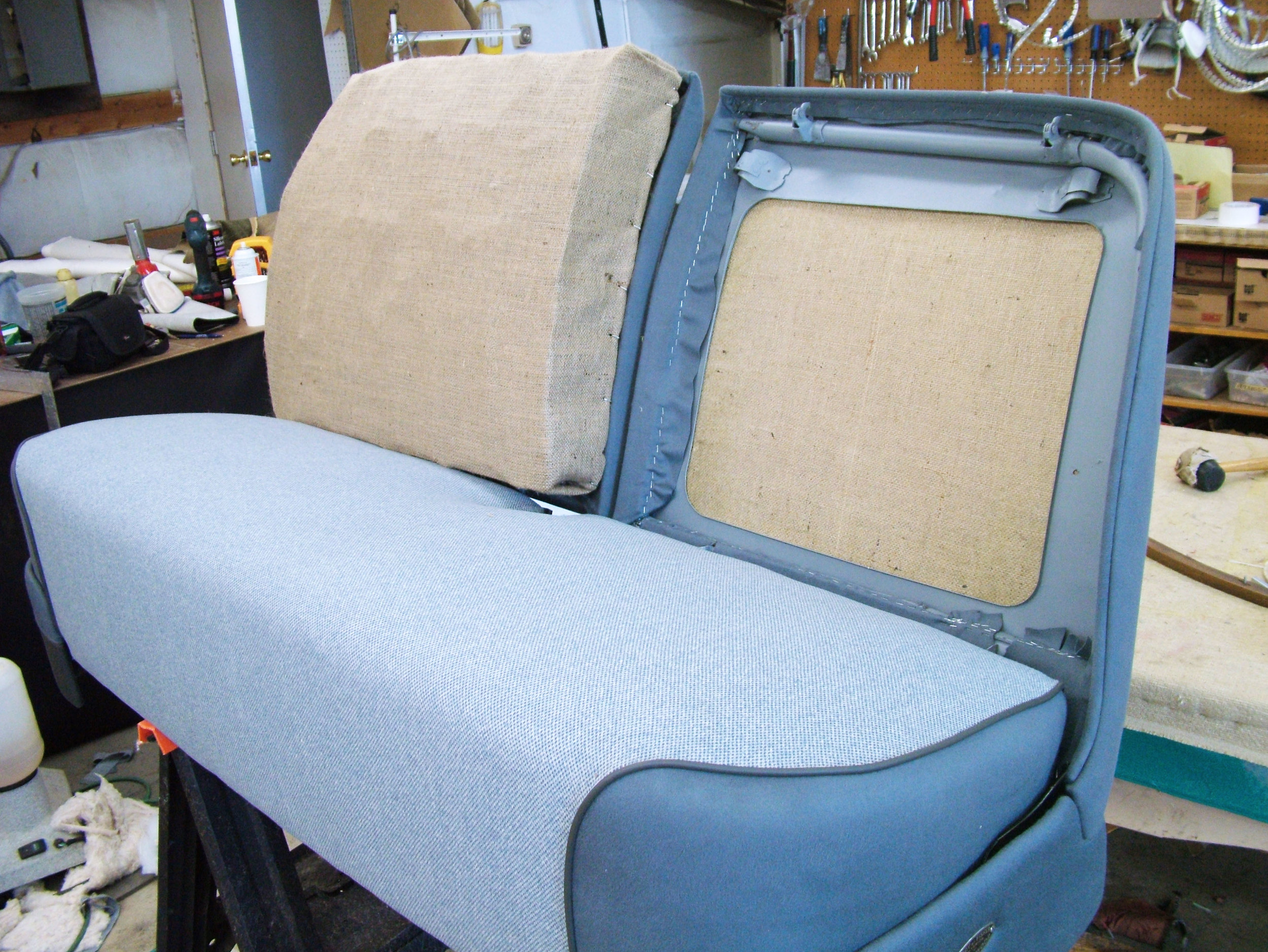 Cadillac - Restoration interior- Foam seat repair.
