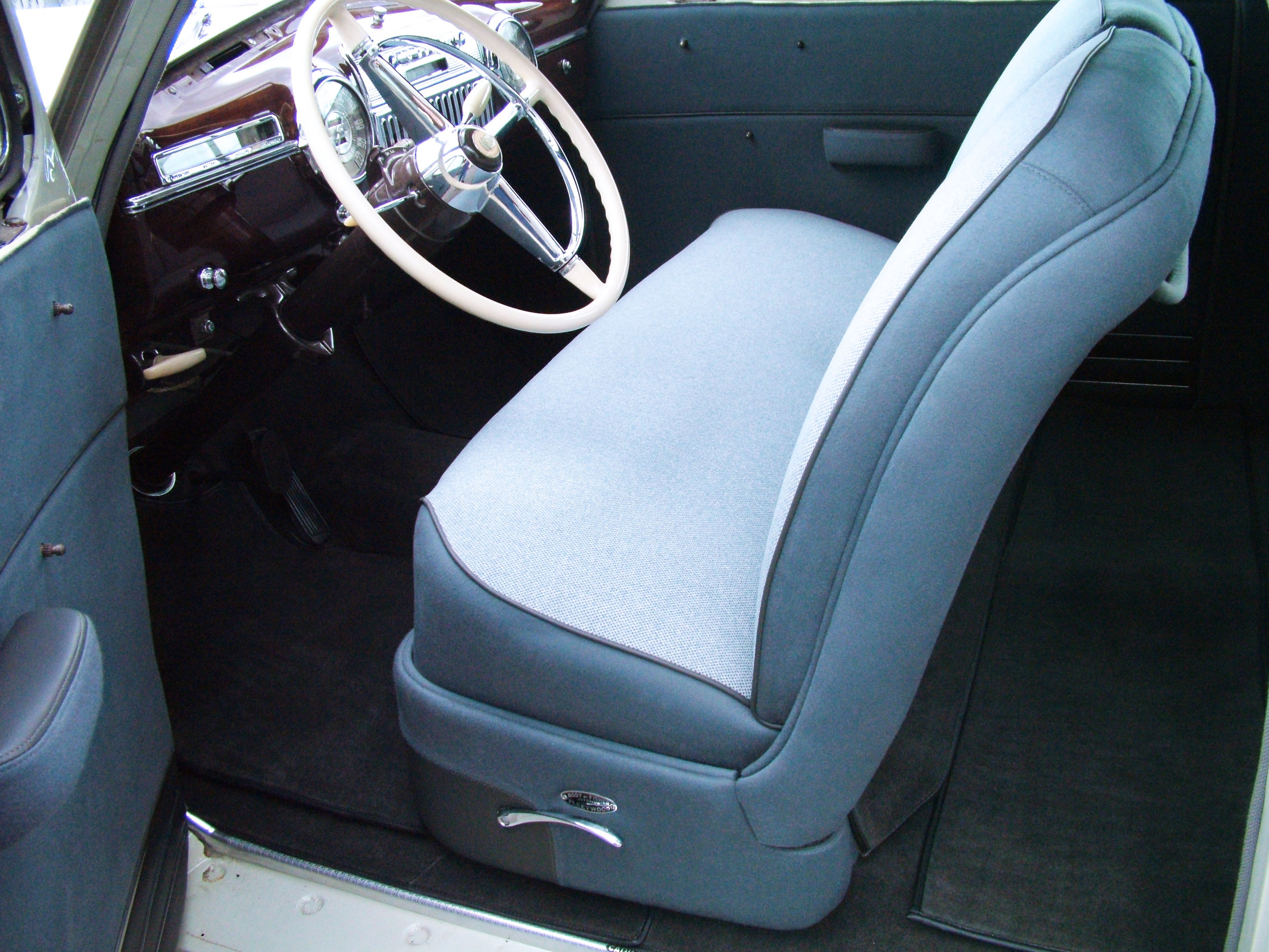 Cadillac - Interior restoration - foam seat repair.
