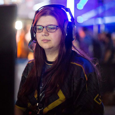 Hayley is a fierce Halo player. She's attended many competitive events including UGC St. Louis 2015, IG Daytona 2015, 2050 Chattanooga 2016, PGL Vegas 2016, Dreamhack ATL 2017, Dreamhack Denver 2017, MLG Orlando 2018, G4G 2018, MLG Nola 2018, Dreamhack HCS ATL 2018, UGC St. Louis 2019. You can also find Hayley streaming on Twitch at  http://twitch.tv/veronickuhhh .