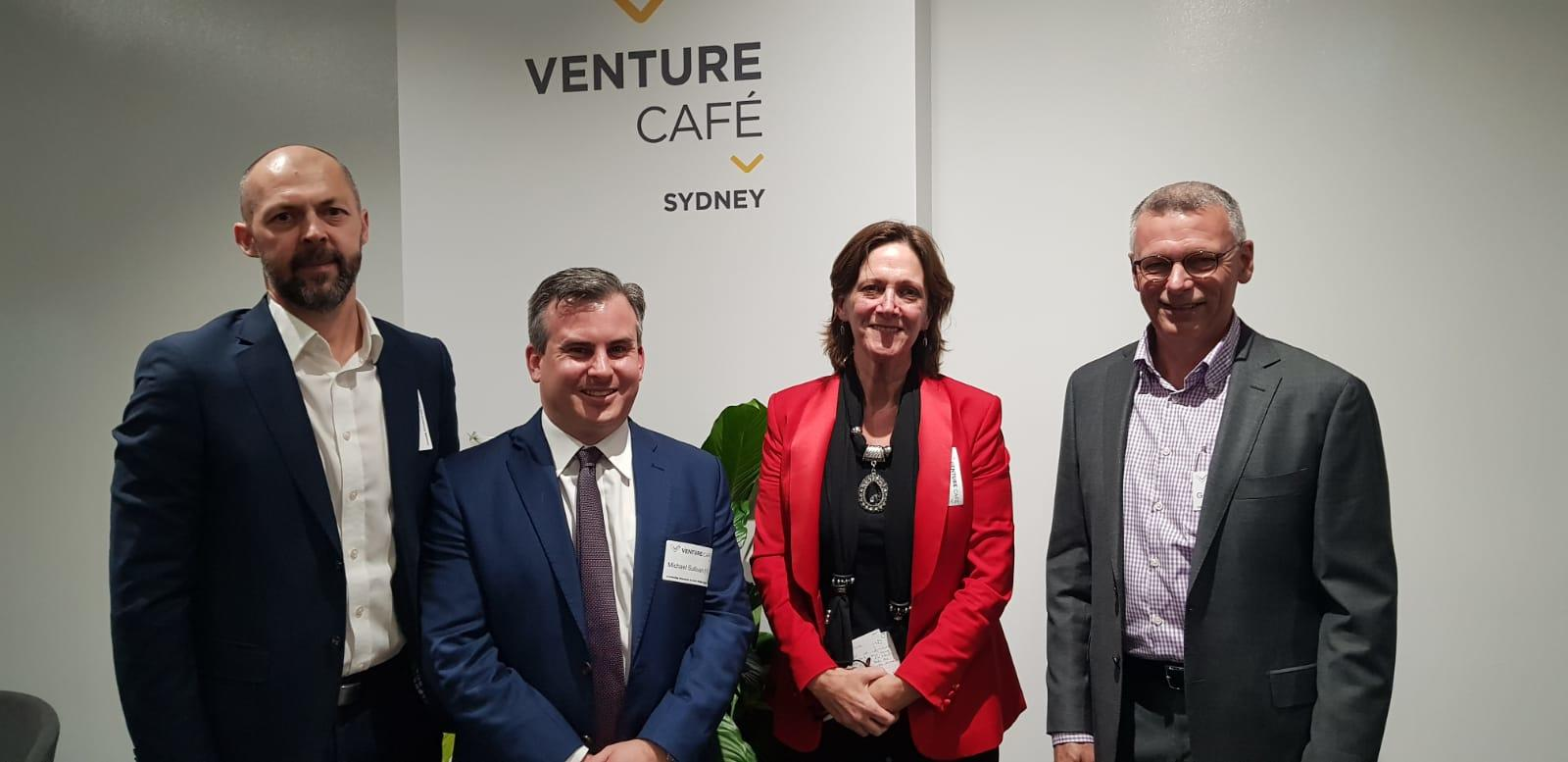 Mary Moran (ORIX) exploring the future of automotive with Scott Thorpe (ORIX),  Geoff Mewing (JET Charge),  Michael Sullivan (Norton Rose Fulbright)