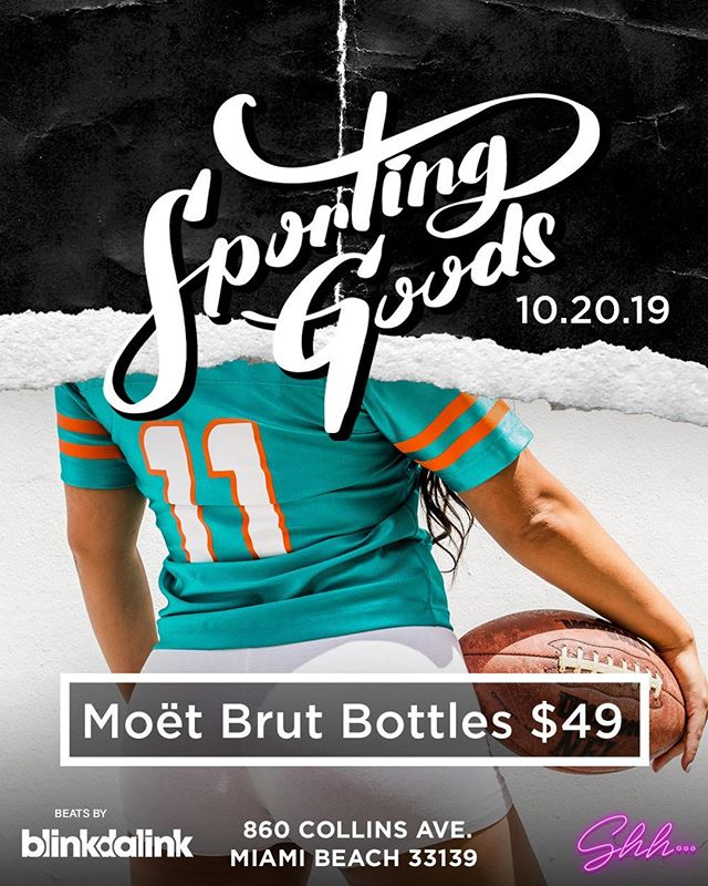 ⚡The Day we've all been waiting for. Sunday Funday on the beach! See you soon for Sporting Goods 😜🏈 ⁠ @shhmiami #Miami #MiamiBeach #ShhMiami #MiamiBars #SouthBeach #Nightlife #NYC #SecretClub #MiamiWeekend #MiamiParties #miamilife #miamievents #miaminightlife #miaminights