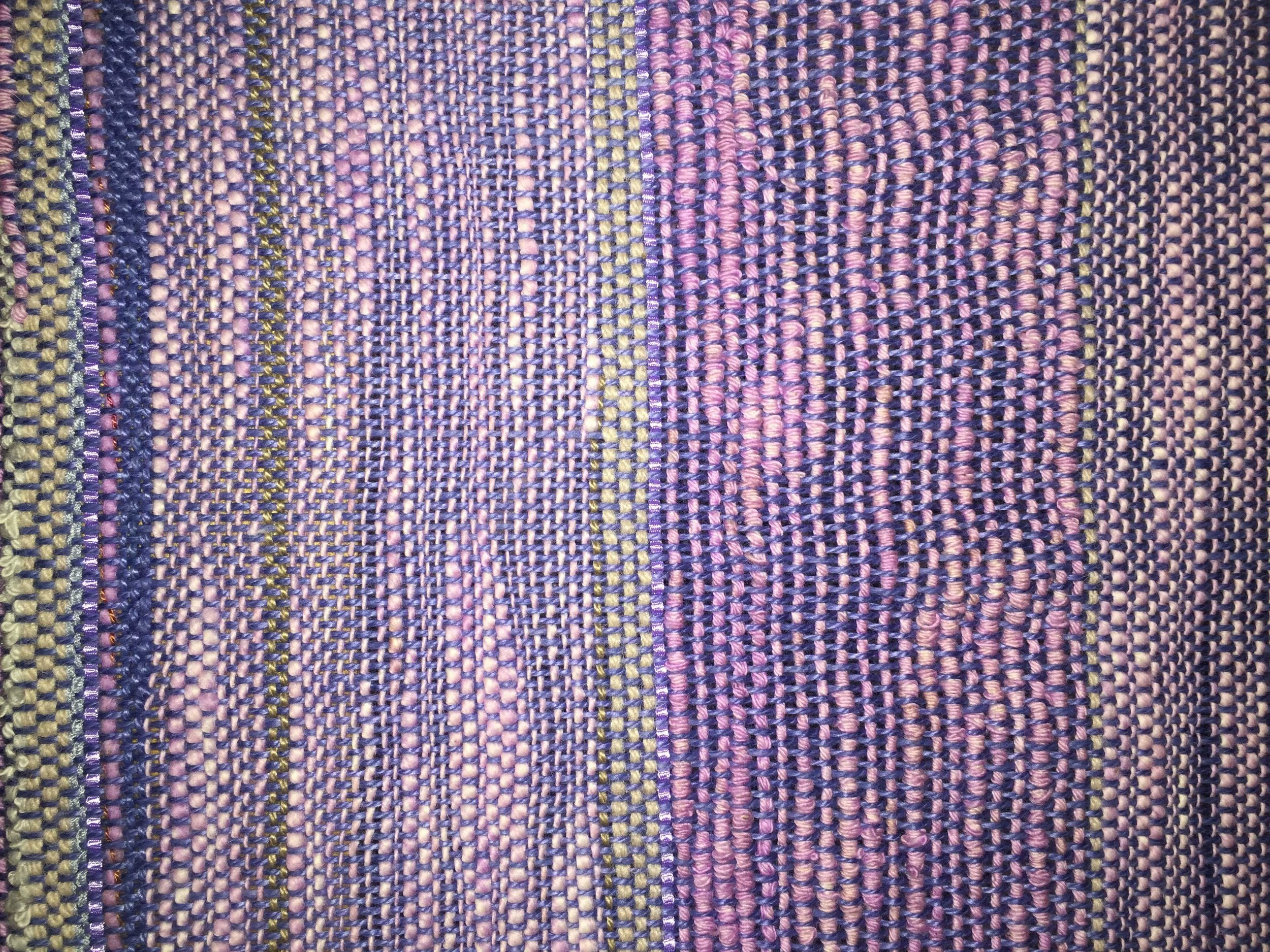 Plain Weave from hand-dyed yarn, Kent State University, 2016