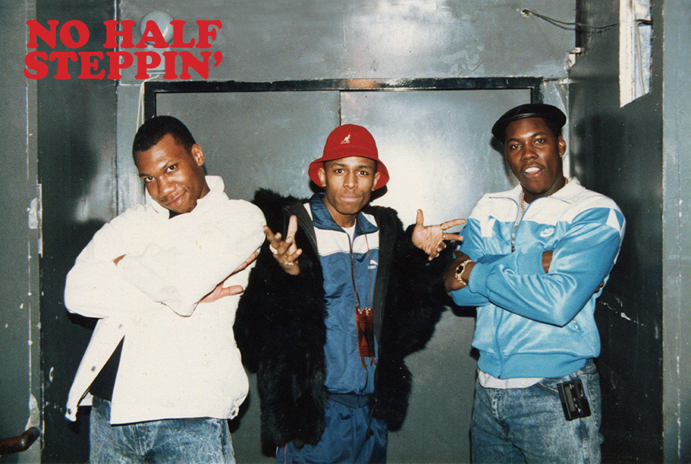 """KRS-One, MC Shan, and DJ Scott La Rock at Latin Quarter, NYC. From the book """"No Half Steppin' — An Oral and Pictorial History of New York City Club the Latin Quarter and the Birth of Hip-Hop's Golden Era"""""""