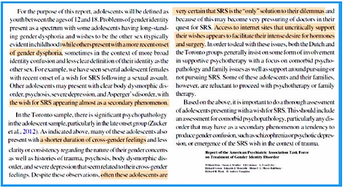 """Report of the American Psychiatric Association Task Force on Treatment of Gender Identity Disorder,""  by Byne et al."