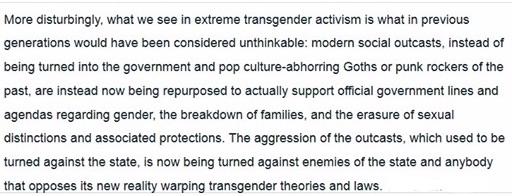 Tans woman criticizes trans activist extremism