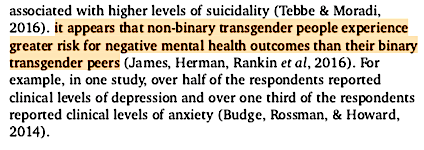 nonbinary mental illness cited by the APA