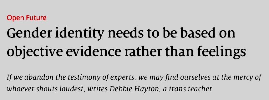 Trans woman, identity politics