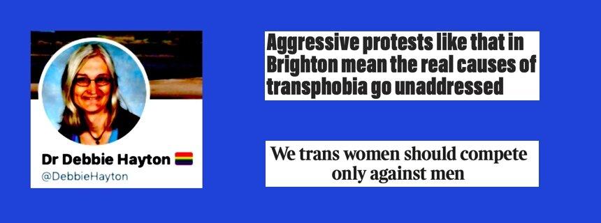 trans activist extremism, Debbie Hayton