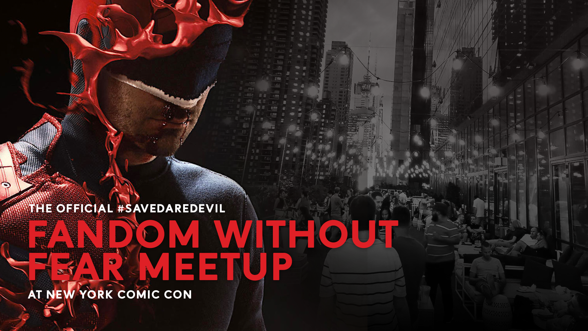 Come to our official #SaveDaredevil meetup at NYCC 2019!