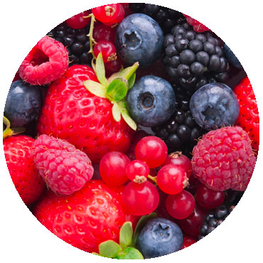 mixed berries harvested from multi crop farming