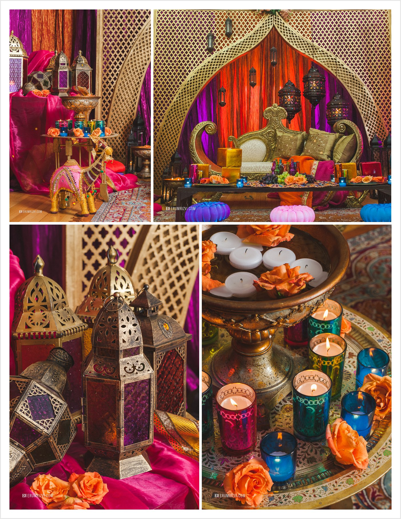 Rajasthani Indian Themed Wedding Decor, Wedding Photographer DC