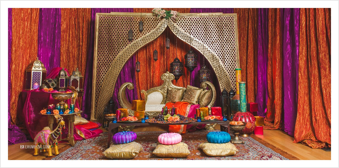 Maryland Indian Sangeet Setting Design by Partyland MD
