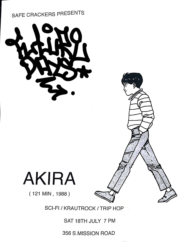 Future Days - An Evening of Sci-fi, Krautrock and Trip-Hop    July 18th - Akira screening