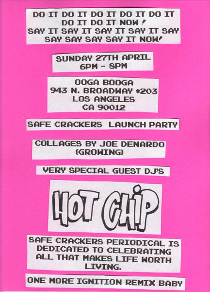 safe crackers Fanzine Launch Party