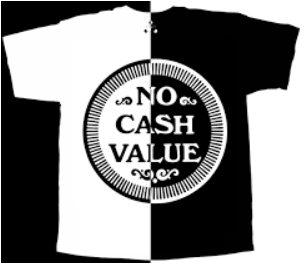 Arcade Token T-shirt for The Trilogy Tapes