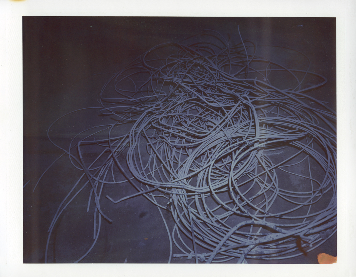 "Exposure #1 • Waltham, MA (Polaroid Factory) • 2009 • Expired Polaroid 809 • 8.5""x11"""