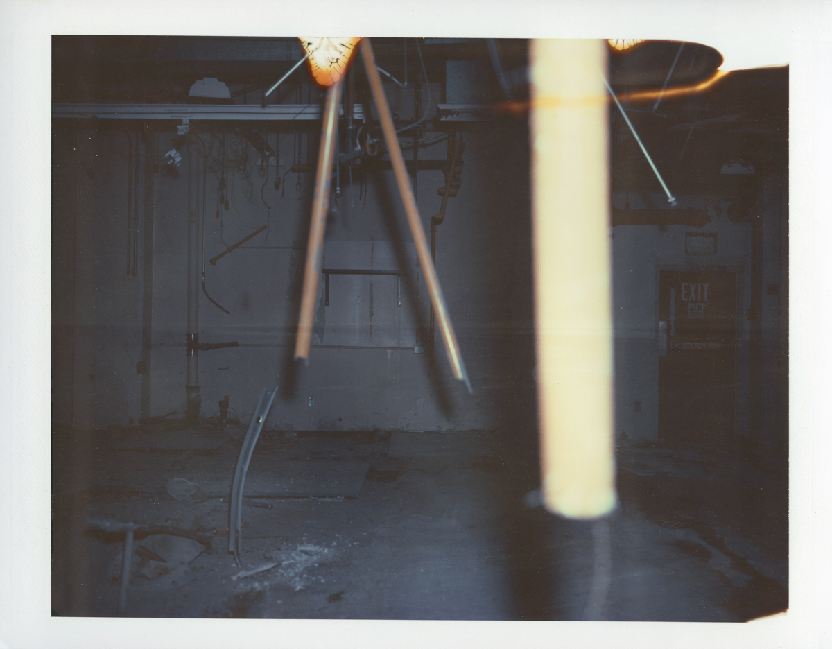 "Exposure #8 • Waltham, MA (Polaroid Factory) • 2009 • Expired Polaroid 809 • 8.5""x11"""