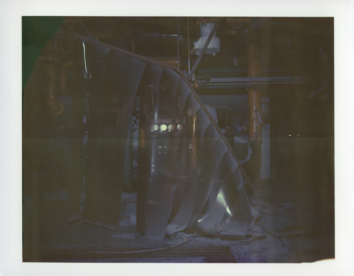 "Exposure #9 • Waltham, MA (Polaroid Factory) • 2009 • Expired Polaroid 809 • 8.5""x11"""