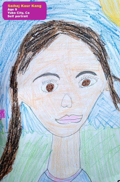 Self Portrait - Saihaj KaurAge 9Yuba City, CA (USA)