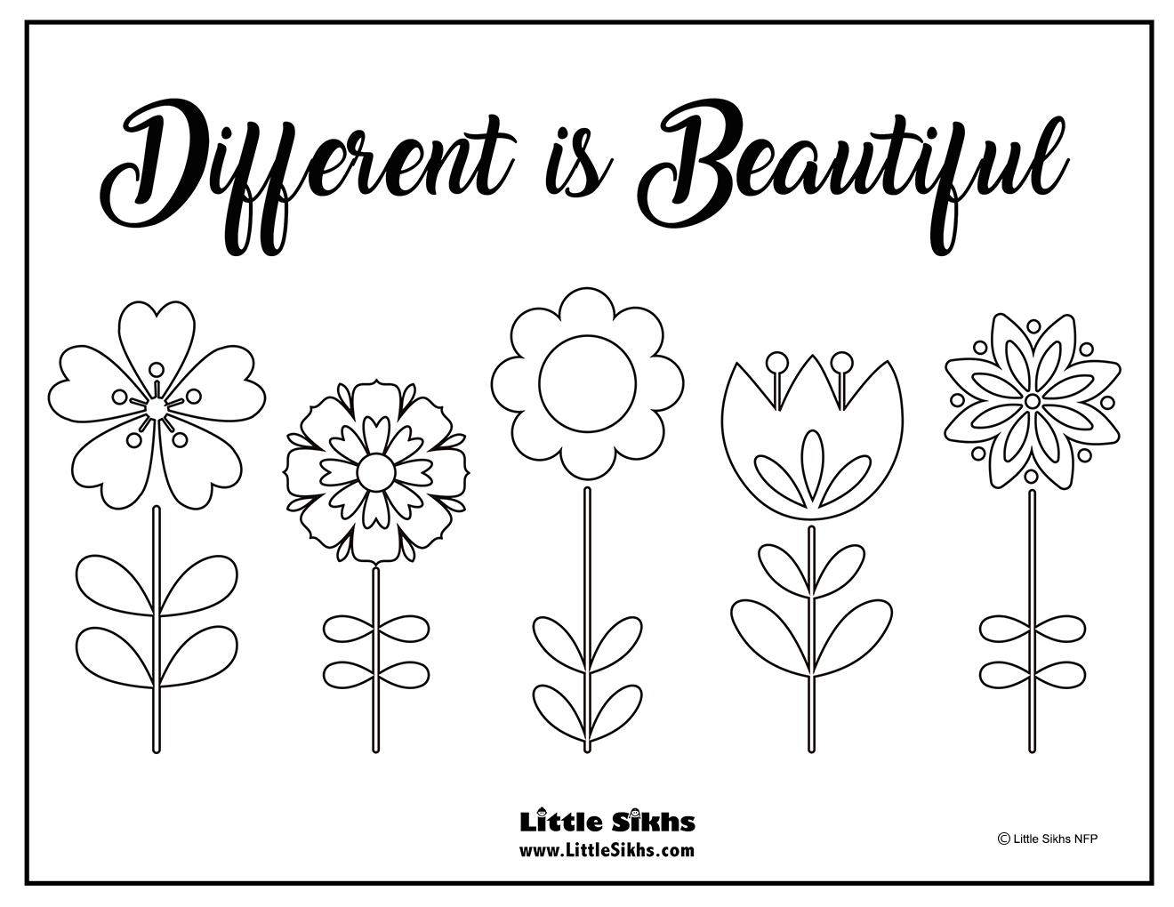 diversity coloring pages for children - photo#33