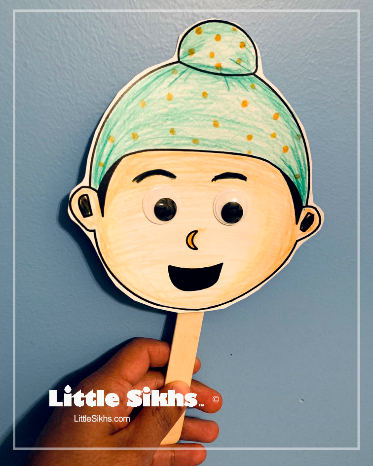 Little Sikhs Puppet Sample (Boy with Patka)