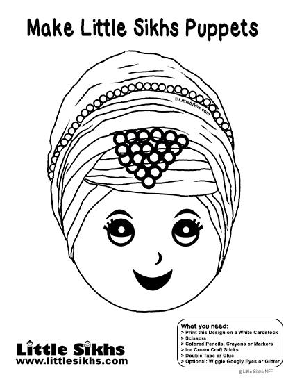 Little Sikhs Puppet (Kaur)