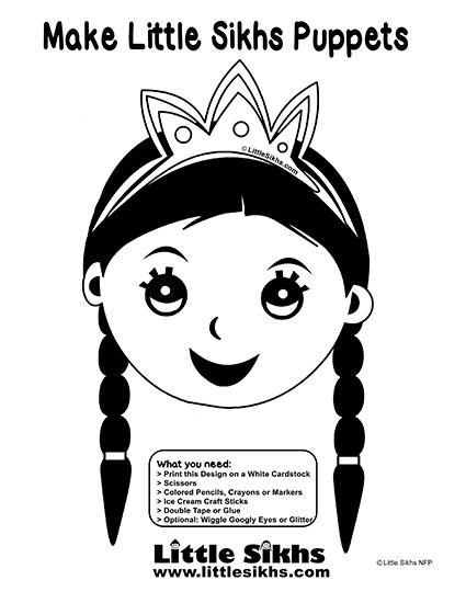Little Sikhs Puppet (Little Kaur)